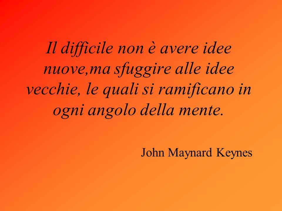 Il difficile non è avere idee nuove,ma sfuggire alle idee vecchie, le quali si ramificano in ogni angolo della mente.