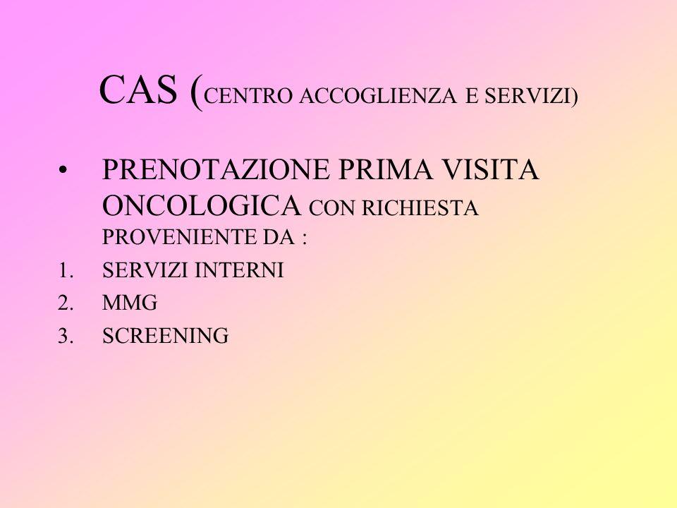 CAS (CENTRO ACCOGLIENZA E SERVIZI)