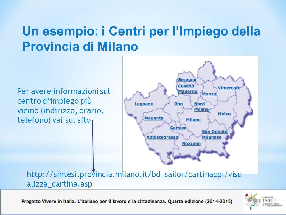 Un esempio: i Centri per l'Impiego della Provincia di Milano