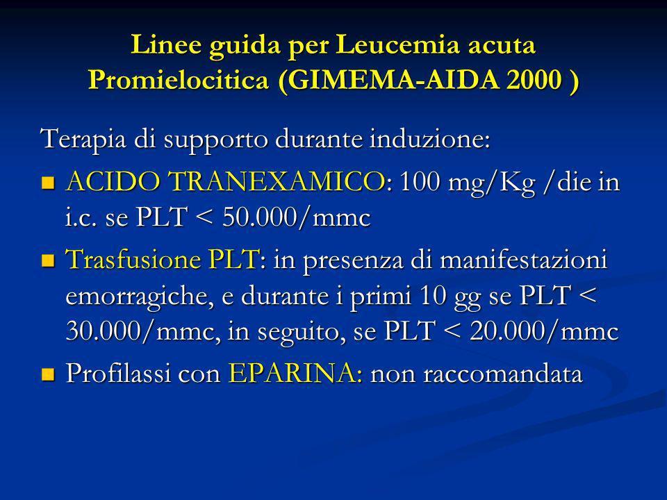 Linee guida per Leucemia acuta Promielocitica (GIMEMA-AIDA 2000 )