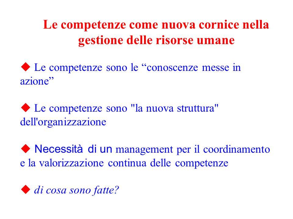Le competenze come nuova cornice nella gestione delle risorse umane