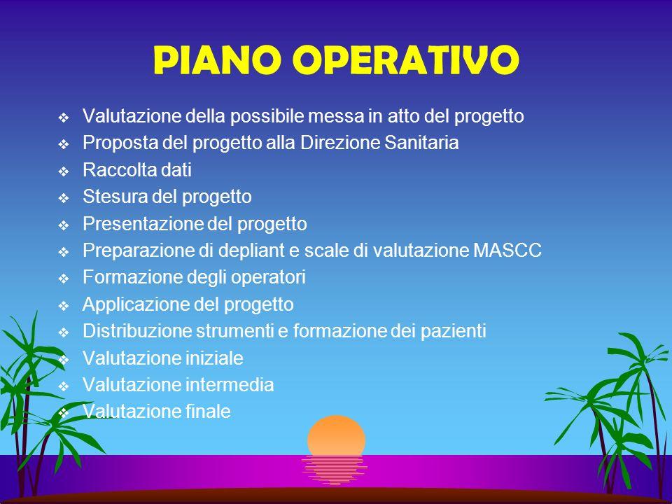 PIANO OPERATIVO Valutazione della possibile messa in atto del progetto
