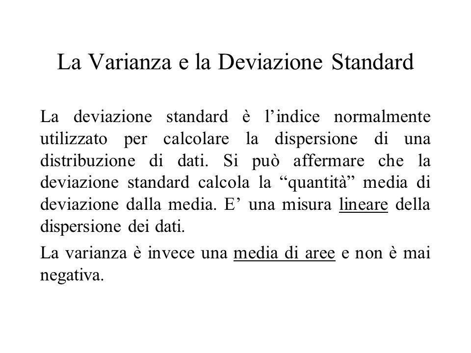 La Varianza e la Deviazione Standard
