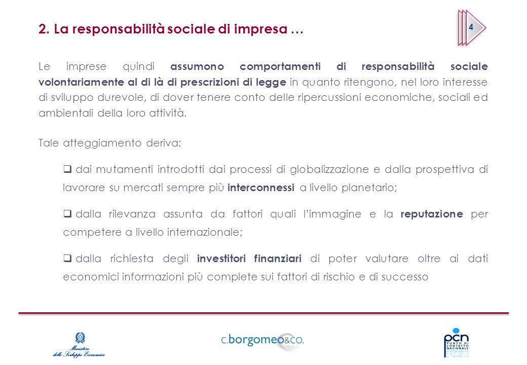 2. La responsabilità sociale di impresa …