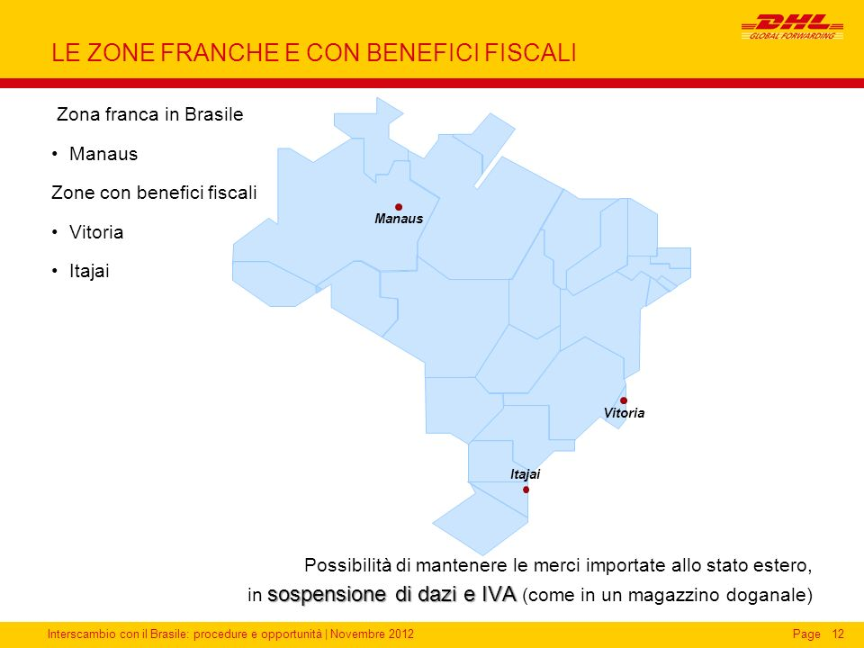 LE ZONE FRANCHE E CON BENEFICI FISCALI