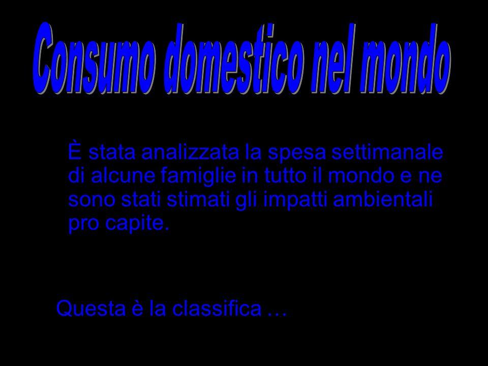 Consumo domestico nel mondo