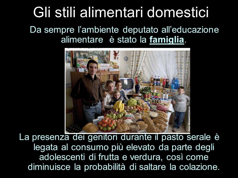 Gli stili alimentari domestici