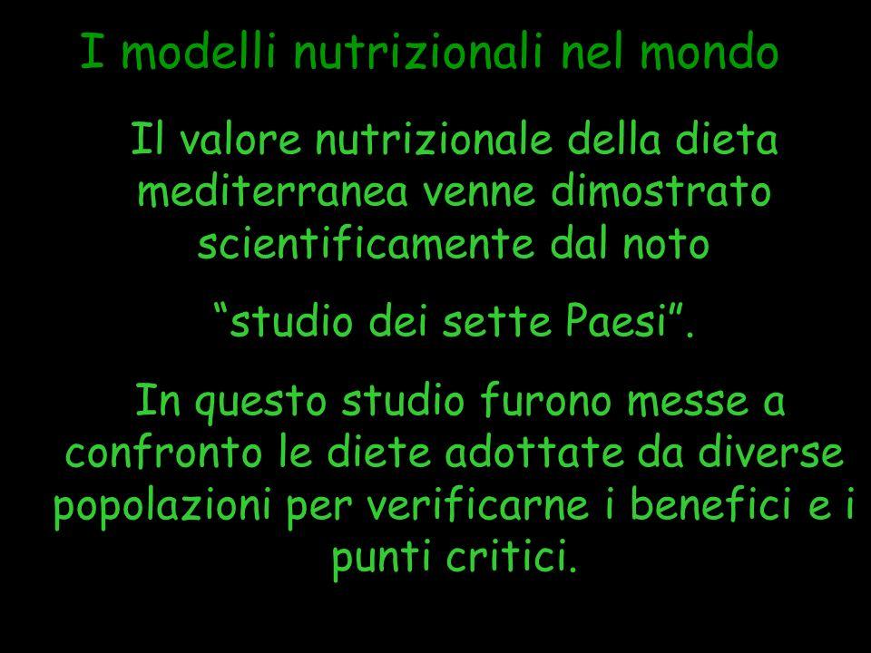 I modelli nutrizionali nel mondo