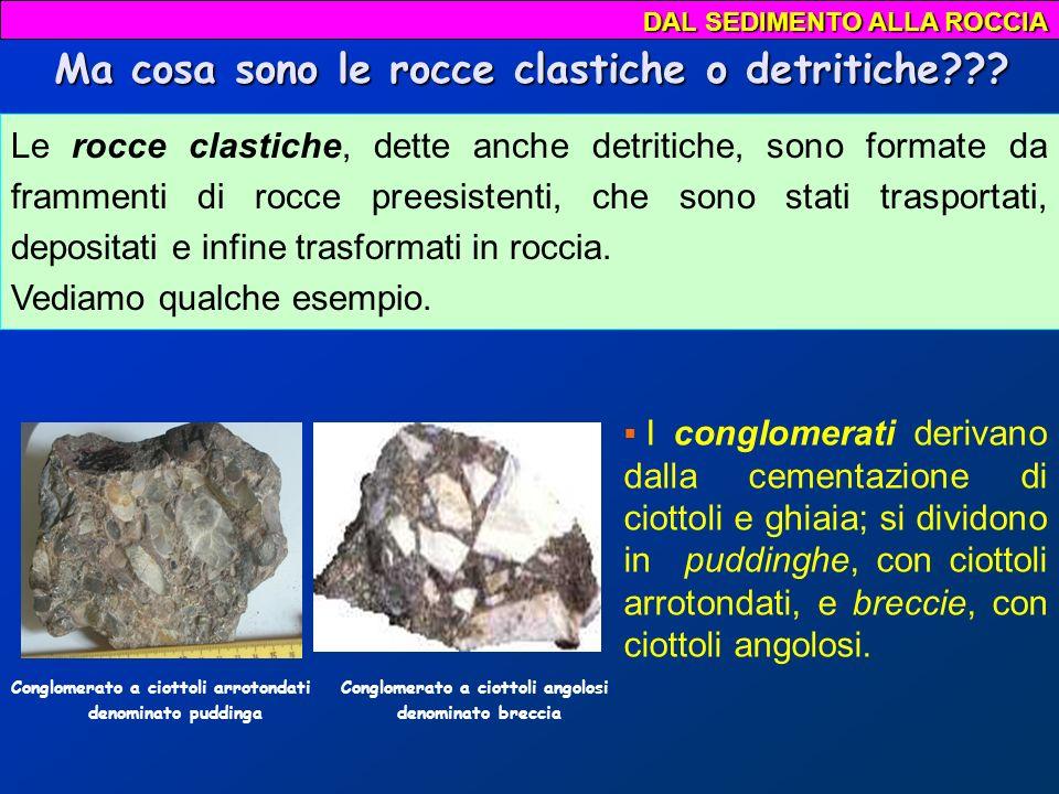 Ma cosa sono le rocce clastiche o detritiche