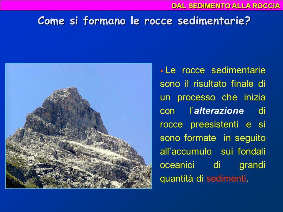 Come si formano le rocce sedimentarie