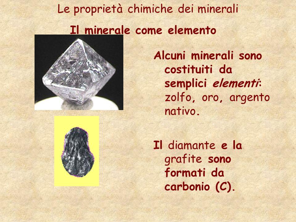 Il minerale come elemento