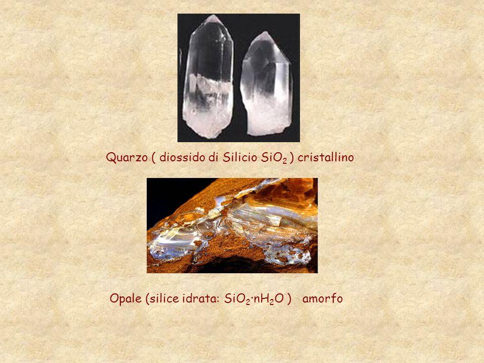 Quarzo ( diossido di Silicio SiO2 ) cristallino
