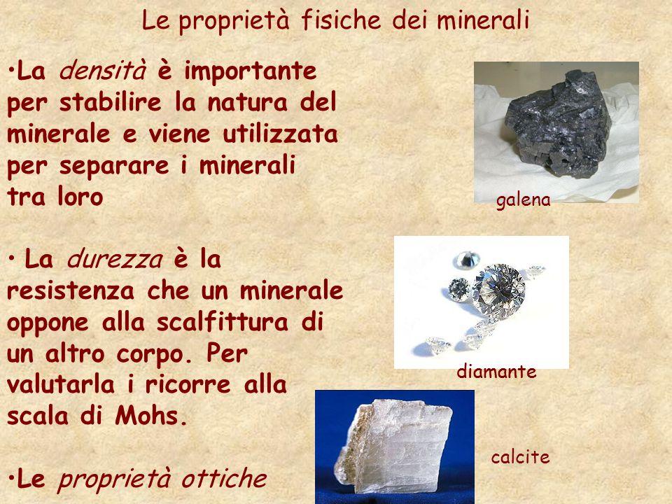 Le proprietà fisiche dei minerali