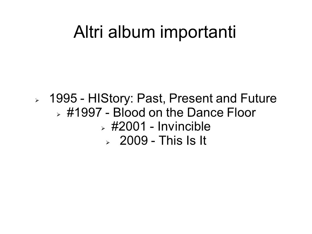 Altri album importanti