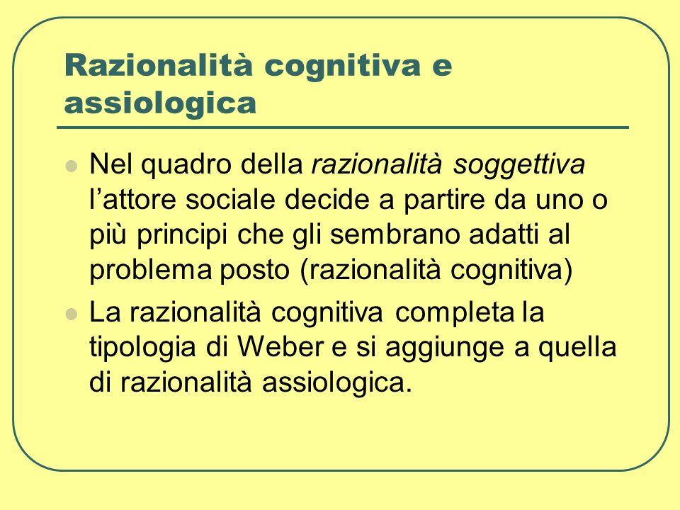 Razionalità cognitiva e assiologica