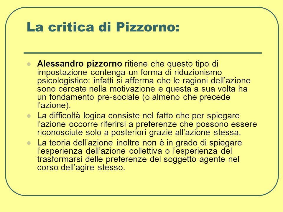 La critica di Pizzorno:
