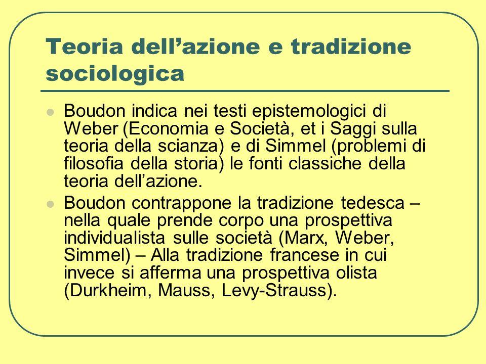 Teoria dell'azione e tradizione sociologica