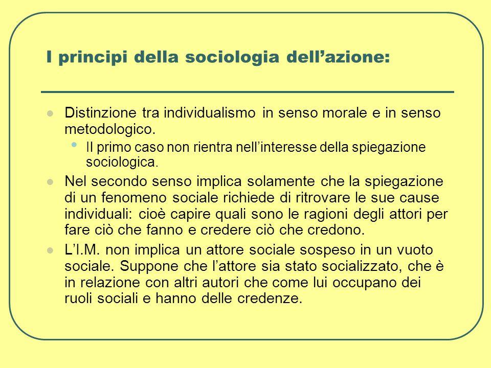 I principi della sociologia dell'azione: