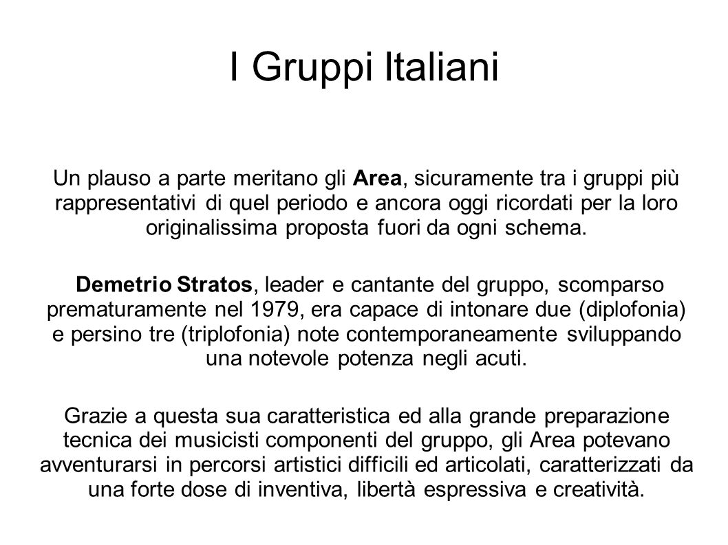 I Gruppi Italiani