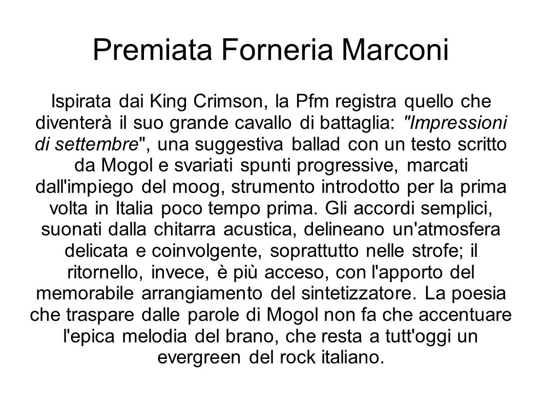 Premiata Forneria Marconi