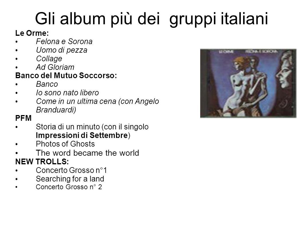 Gli album più dei gruppi italiani