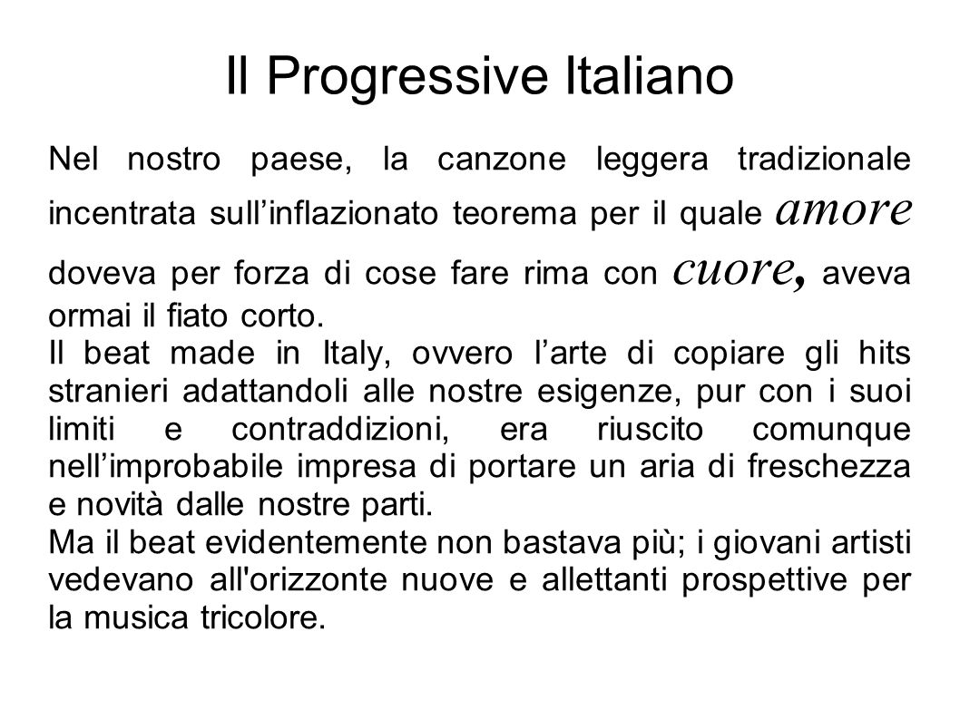 Il Progressive Italiano