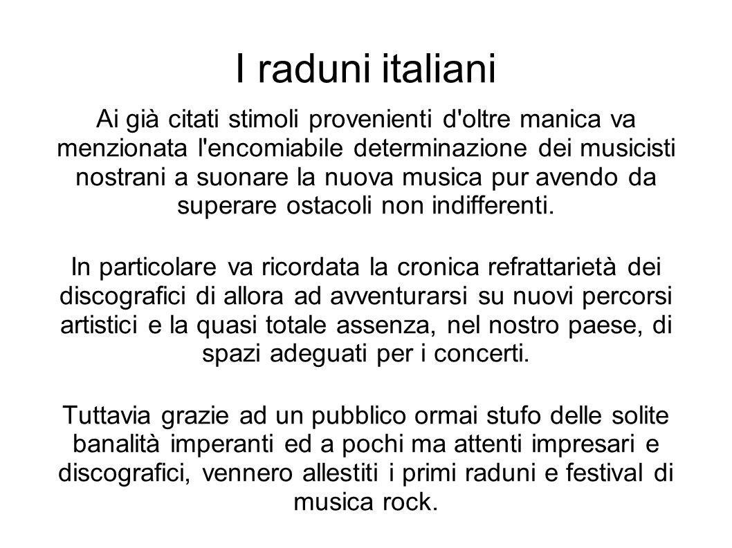 I raduni italiani
