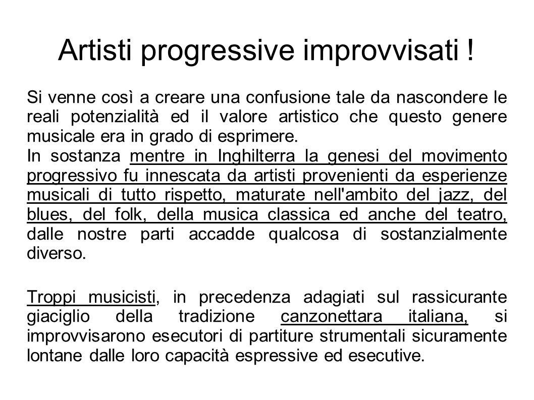 Artisti progressive improvvisati !