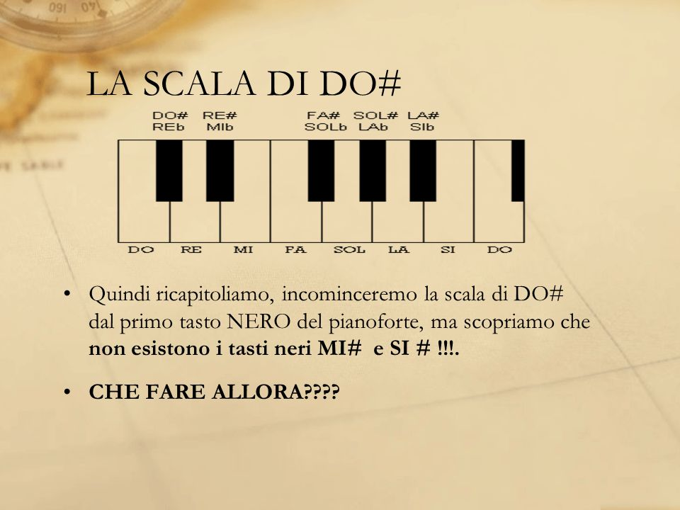 LA SCALA DI DO#