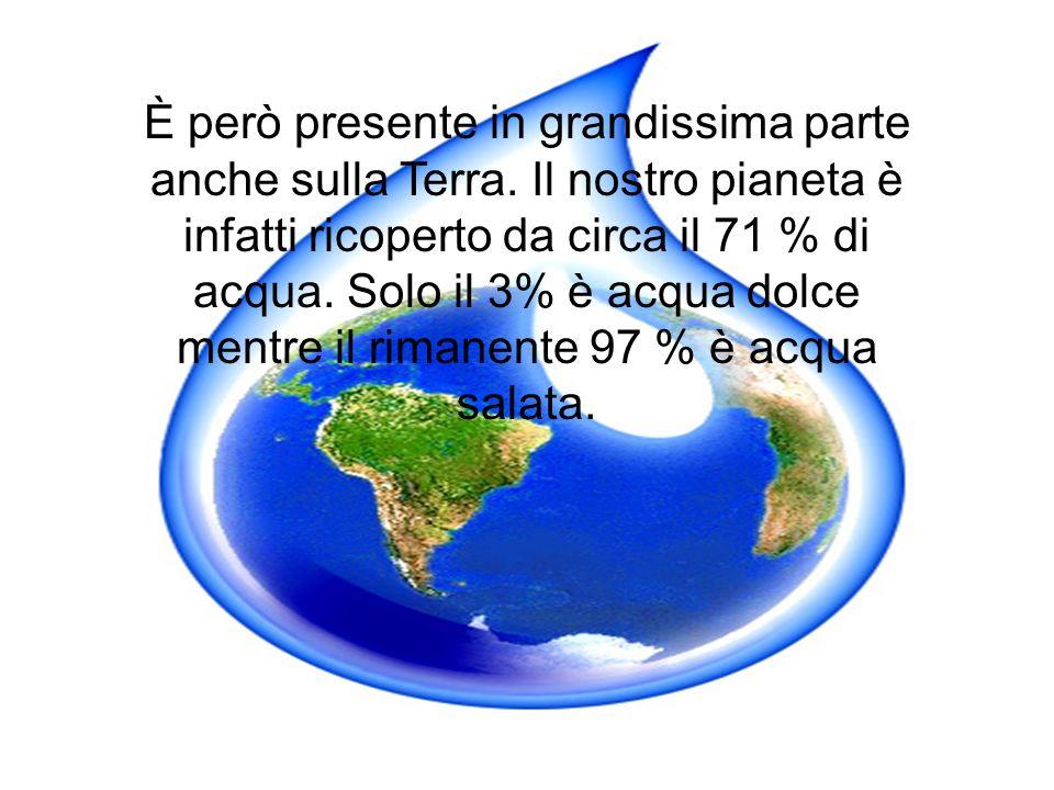 È però presente in grandissima parte anche sulla Terra