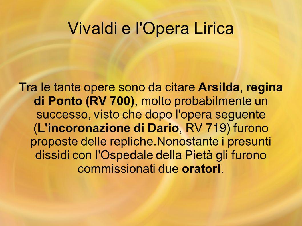 Vivaldi e l Opera Lirica