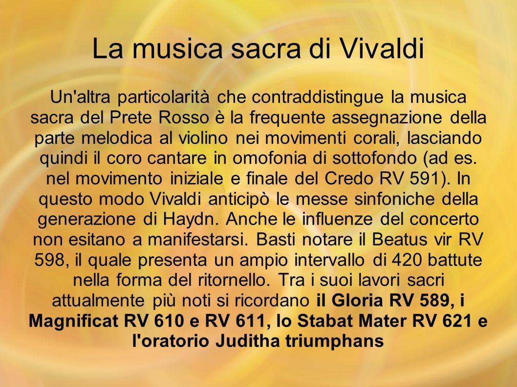 La musica sacra di Vivaldi