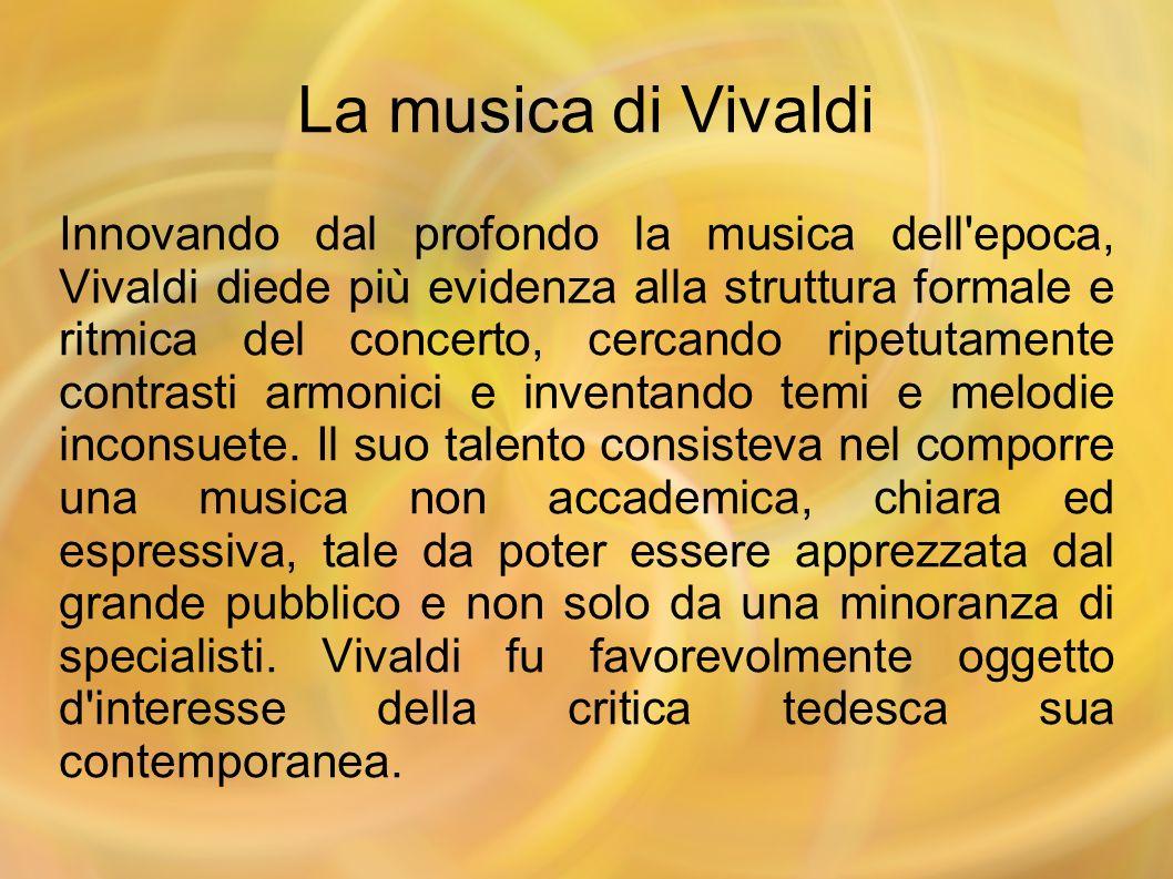 La musica di Vivaldi