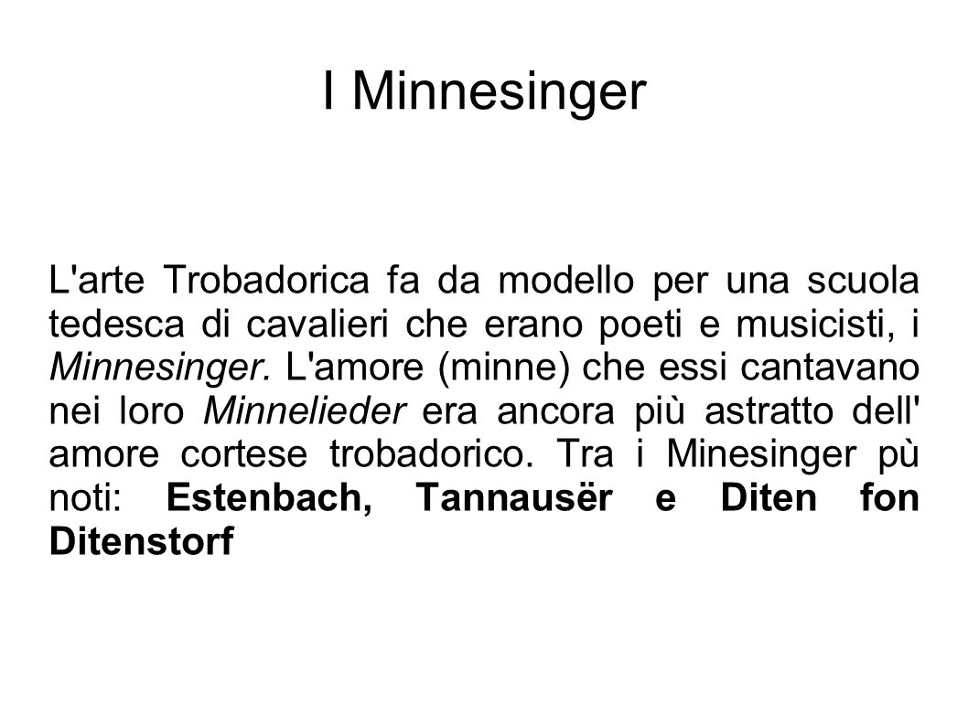 I Minnesinger