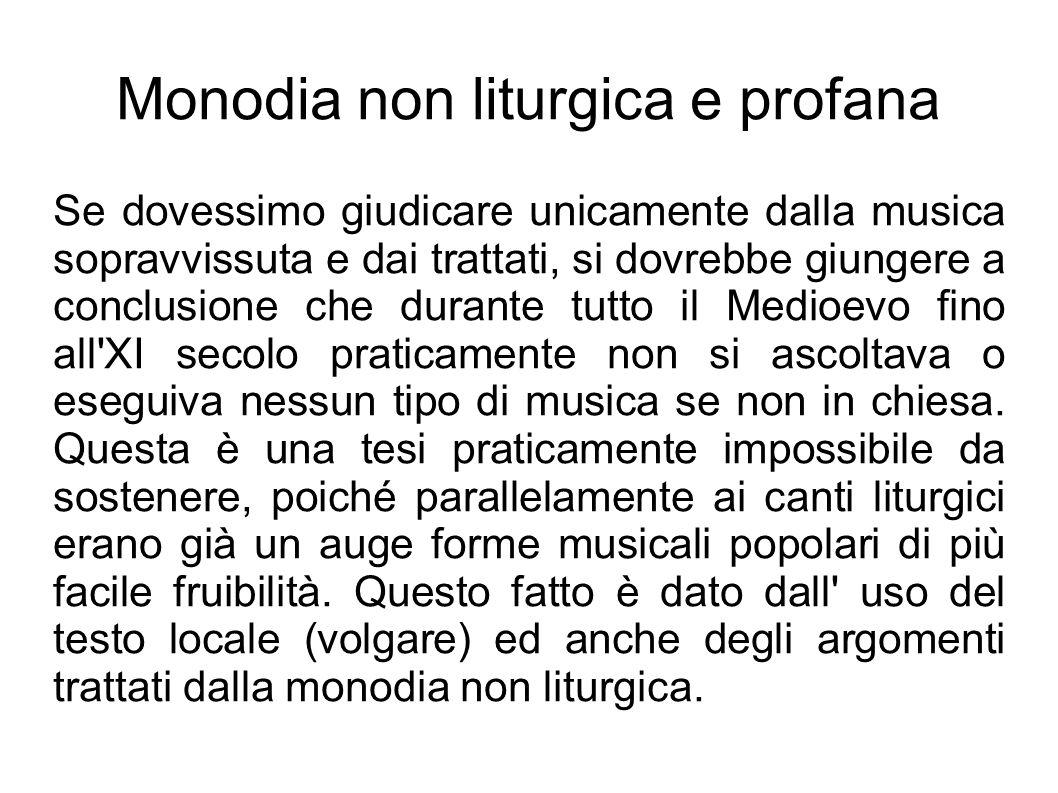 Monodia non liturgica e profana