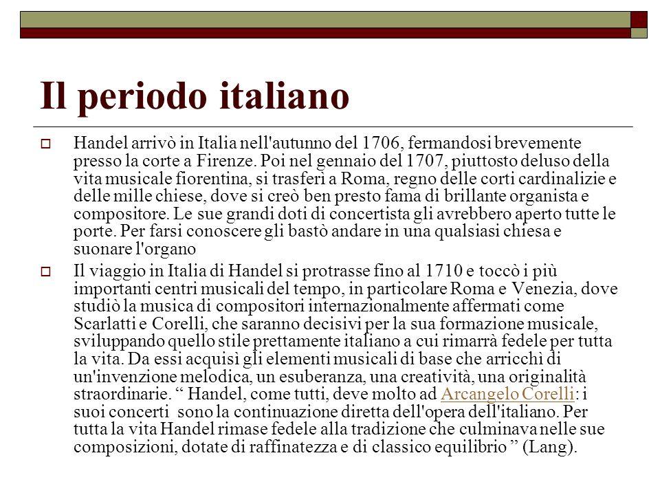 Il periodo italiano