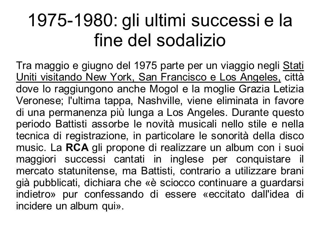 1975-1980: gli ultimi successi e la fine del sodalizio