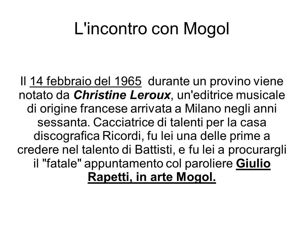 L incontro con Mogol
