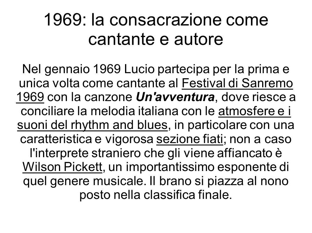 1969: la consacrazione come cantante e autore