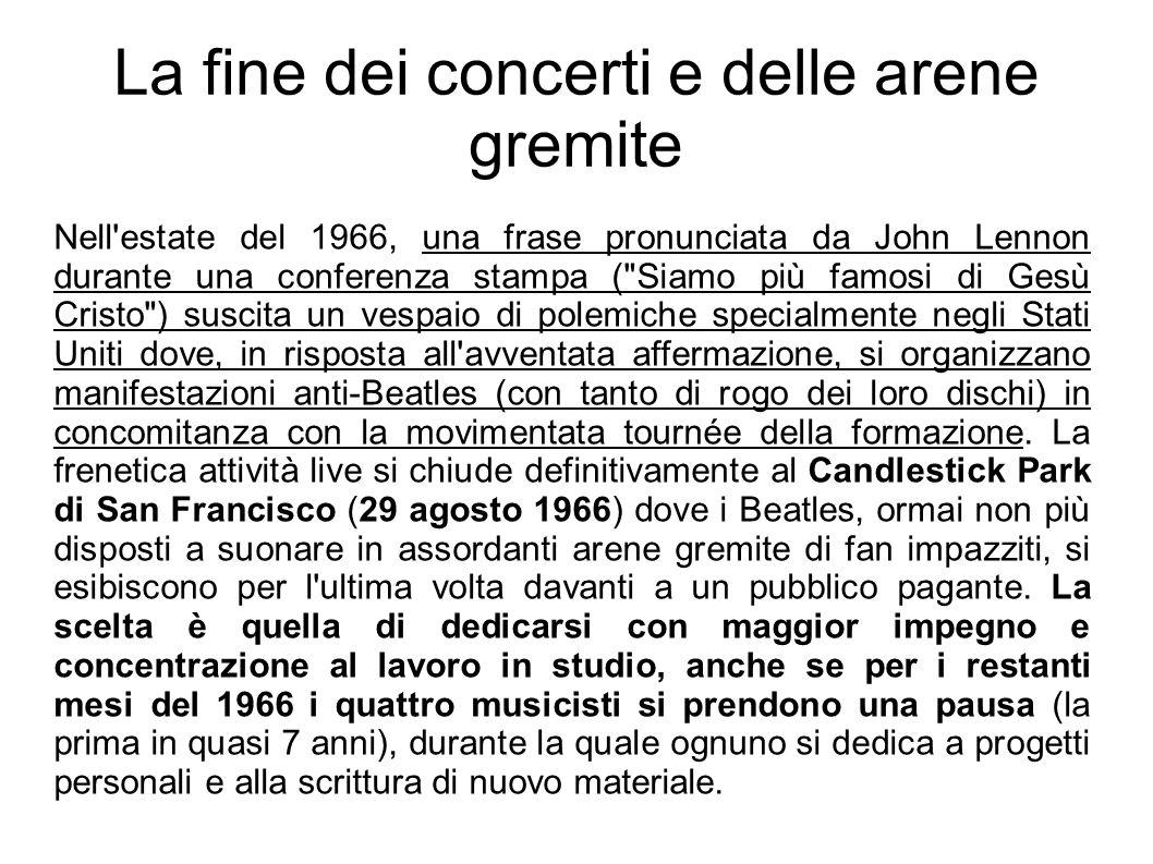 La fine dei concerti e delle arene gremite