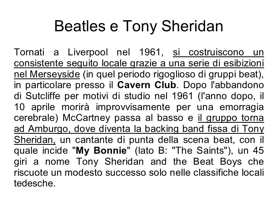 Beatles e Tony Sheridan