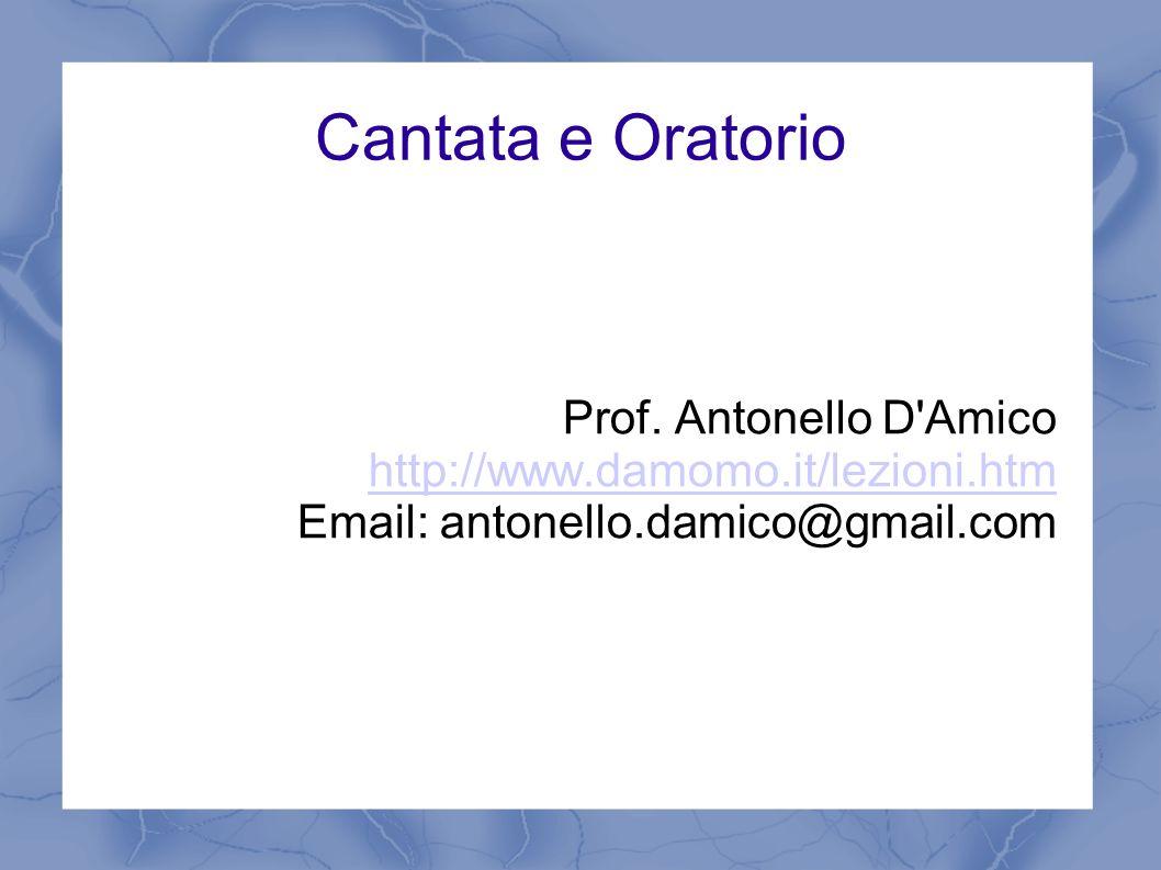 Cantata e Oratorio Prof. Antonello D Amico