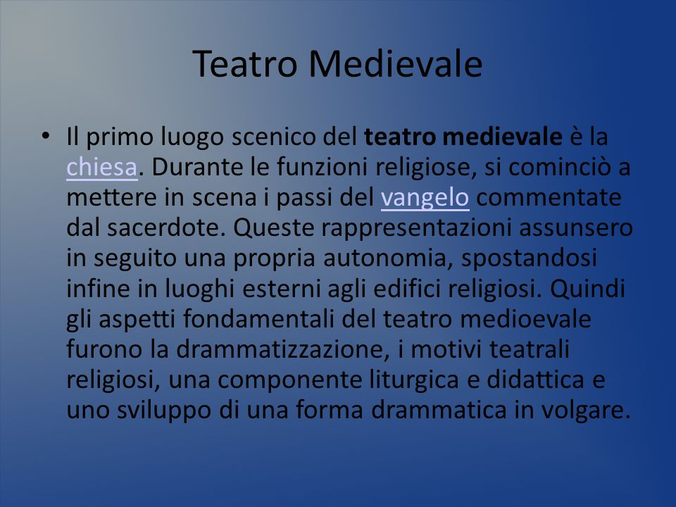 Teatro Medievale