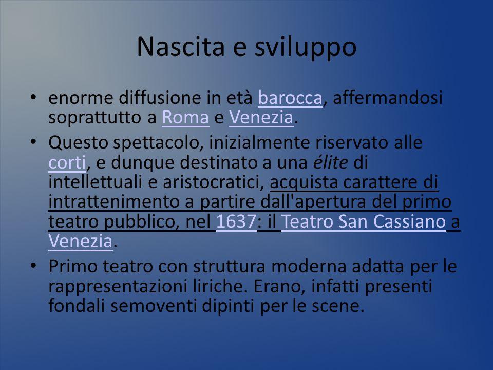 Nascita e sviluppoenorme diffusione in età barocca, affermandosi soprattutto a Roma e Venezia.