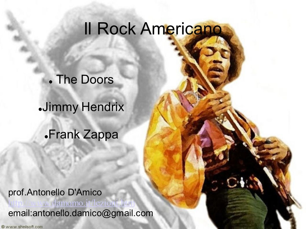 The Doors Jimmy Hendrix Frank Zappa