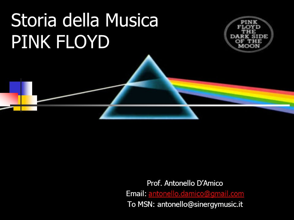 Storia della Musica PINK FLOYD