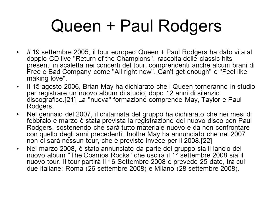 Queen + Paul Rodgers