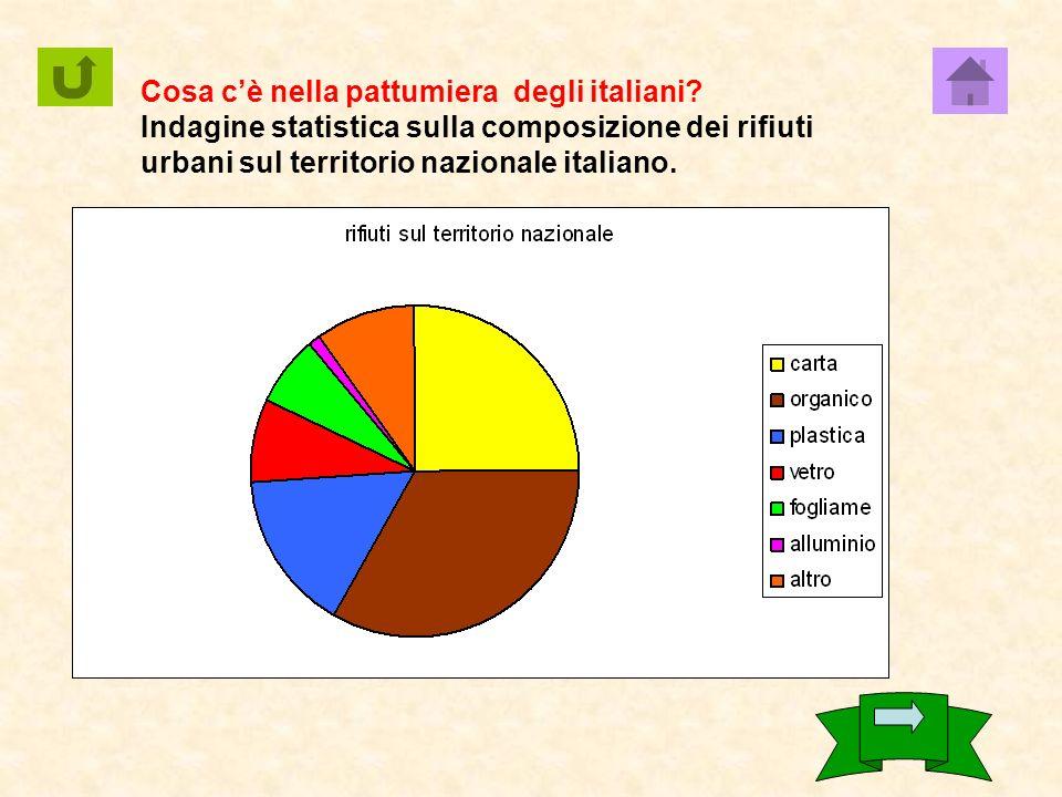 Cosa c'è nella pattumiera degli italiani