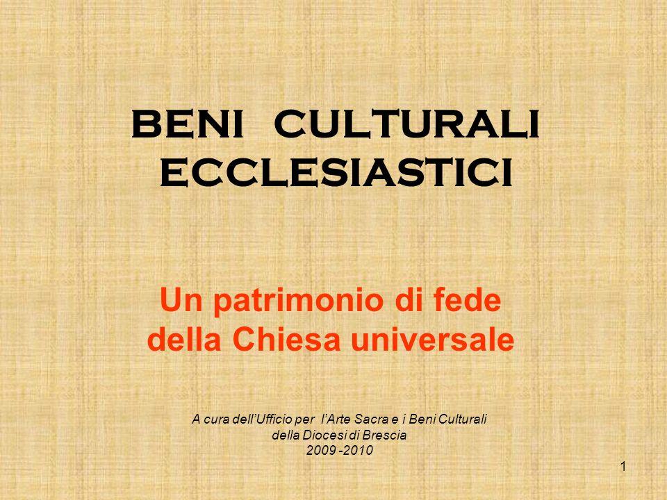 BENI CULTURALI ECCLESIASTICI