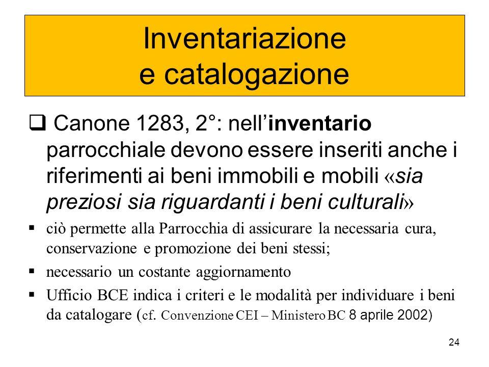 Inventariazione e catalogazione